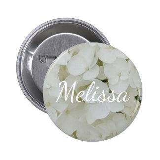 Hydrangea White Flowers Blossom Elegant Floral Button