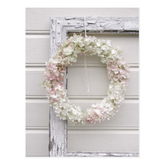 Hydrangea Wreath Postcard