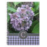 Hydrangea y lunares azules cuadernos
