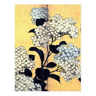 Hydrangea y trago de Katsushika Hokusai Tarjetas Postales