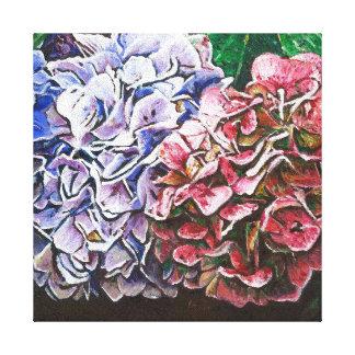 Hydrangeas 2010 canvas print