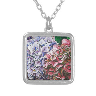 Hydrangeas 2010 silver plated necklace