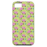Hydrangeas and butterflies pattern iPhone 5 cover