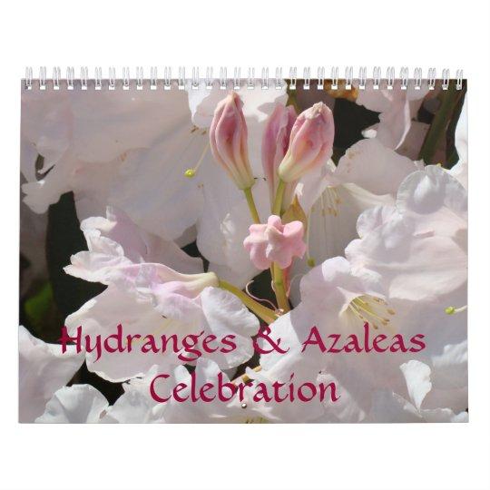 Hydrangeas & Azaleas Celebration Calendar Flowers