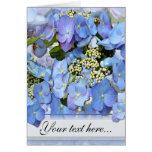Hydrangeas azules de Lacecap Felicitación