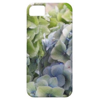 Hydrangeas azules en colores pastel iPhone 5 Case-Mate funda
