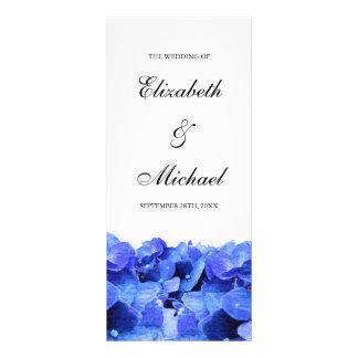 Hydrangeas azules que casan programa lona publicitaria