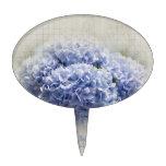 Hydrangeas azules románticos decoraciones para tartas