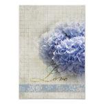 Hydrangeas azules románticos que casan RSVP Anuncio
