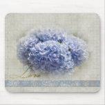 Hydrangeas azules románticos alfombrillas de ratones