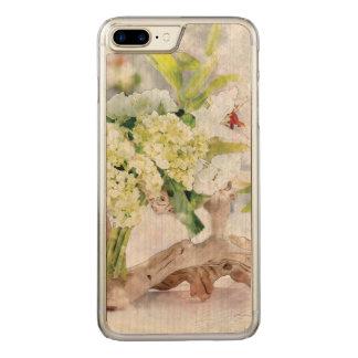 Hydrangeas Bella Watercolo iPhone 6 Plus Slim Wood Carved iPhone 7 Plus Case