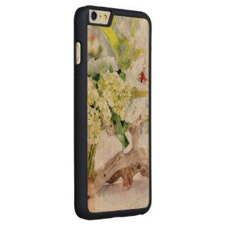Hydrangeas Bella Watercolo iPhone 6 Plus Slim Wood Carved® Maple iPhone 6 Plus Case