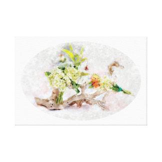 """Hydrangeas Bella Watercolor Canvas 24.00""""x16.00"""""""