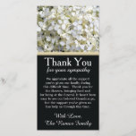 """Hydrangeas Bereavement Sympathy Thank You Card<br><div class=""""desc"""">My grandma recently passed away at the age of 102. I never imagined I would be creating her bereavement thank you but here I am. She was the matriarch of our family and dearly missed. She loved flowers and these hydrangeas remind me of her. Personalize this card with your own...</div>"""