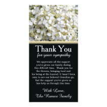 Hydrangeas Bereavement Sympathy Thank You Card