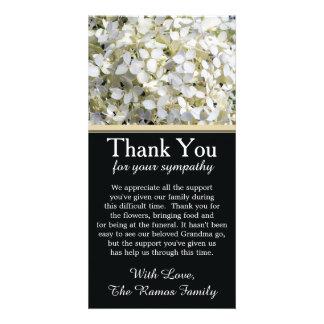 Hydrangeas Bereavement Sympathy Thank You Card