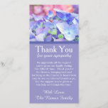 """Hydrangeas Bereavement Sympathy Thank You Card<br><div class=""""desc"""">My grandma recently passed away at the age of 102. I never imagined I would be creating her bereavement thank you but here I am. She was the matriarch of our family and dearly missed. She loved colorful flowers and these hydrangeas remind me of her. Personalize this card with your...</div>"""