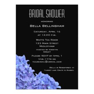 "Hydrangeas Bridal Shower Invitation 5.5"" X 7.5"" Invitation Card"