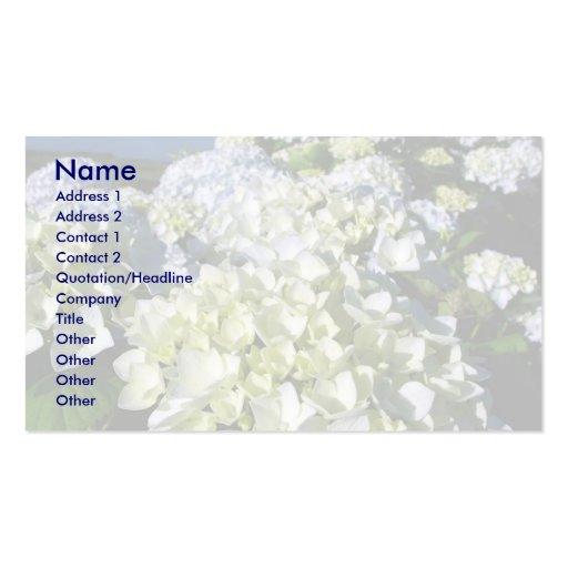 Hydrangeas Business Card Templates