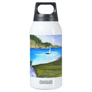 Hydrangeas by the bay insulated water bottle
