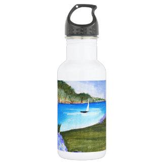 Hydrangeas by the bay water bottle