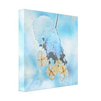 Hydrangeas congelados lienzo envuelto para galerias