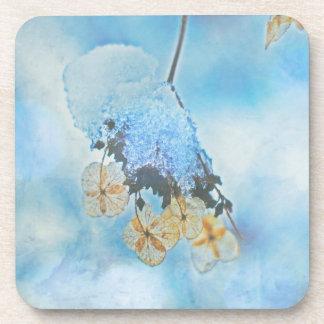 Hydrangeas congelados posavasos de bebidas