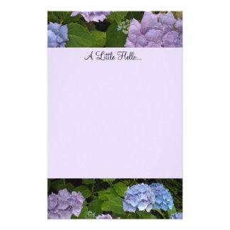 Hydrangeas de color de malva y azules papelería personalizada