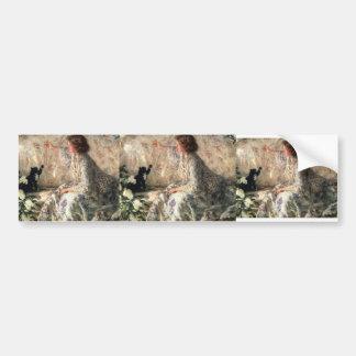 Hydrangeas del buey de Philip Wilson Pegatina De Parachoque