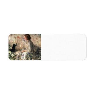 Hydrangeas del buey de Philip Wilson Etiqueta De Remite