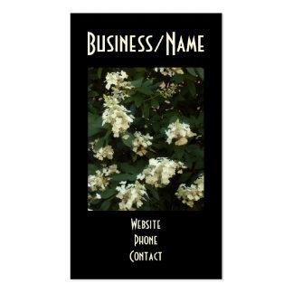 Hydrangeas del cordón del velo de novia tarjetas de visita