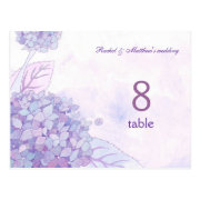 Hydrangeas Double Sided Table Number Postcards