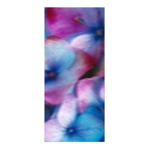 Hydrangeas en el viento tarjeta publicitaria a todo color