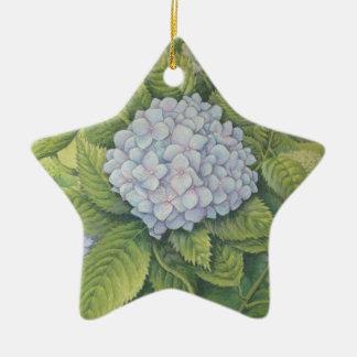 Hydrangeas en Lanhydrock, Cornualles en pastel Adorno Navideño De Cerámica En Forma De Estrella