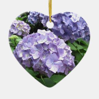 Hydrangeas en los jardines de Trebah, dama de Adorno Navideño De Cerámica En Forma De Corazón
