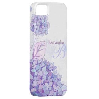 Hydrangeas Floral Monogram iPhone 5 Case-Mate Case