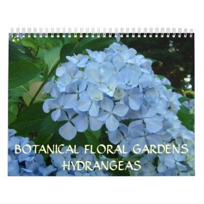 HYDRANGEAS florales botánicos del calendario de lo
