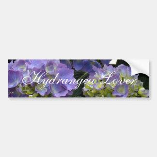 Hydrangeas franceses de los azules cielos pegatina de parachoque