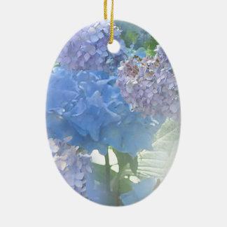 Hydrangeas Glow Ceramic Ornament