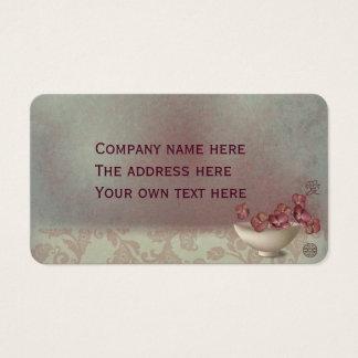 "Hydrangeas in a bowl ""Love"" Business Card"