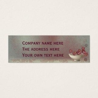 "Hydrangeas in a bowl ""Love"" Mini Business Card"