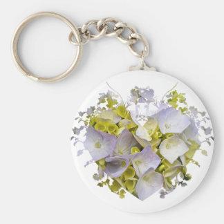 Hydrangeas in a Heart Cutout Keychain