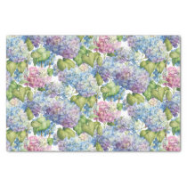 Hydrangeas in Bloom Pattern Tissue Paper