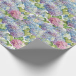 "Hydrangeas in Bloom Wrapping Paper<br><div class=""desc"">If you love hydrangeas,  you'll certainly enjoy the lovely pattern on this paper.  Blooming hydrangeas are shown in delightful shades from pink to blue to lavender,  making it an ideal gift wrap for weddings and other special occasions.</div>"