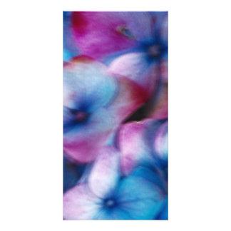 Hydrangeas in the wind card