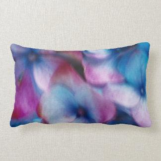 Hydrangeas in the wind lumbar pillow