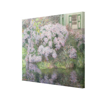 Hydrangeas on the banks of the River Lys, 1898 (oi Canvas Print