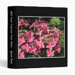 Hydrangeas. Pink Flowers on Black. Binders
