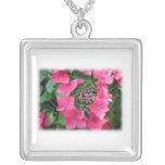 Hydrangeas. Pink Flowers. White. Pendant