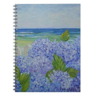 Hydrangeas por el mar libreta